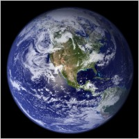 Picture of the planet in darkness