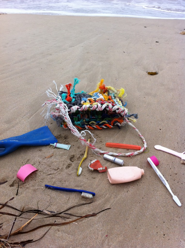 Found plastics on Robe beach altered by Victoria Osborne and Philip Millar