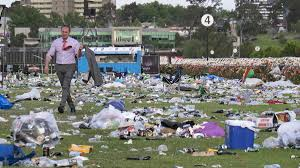 Rubbish left over from the 2014 Melbourne Cup