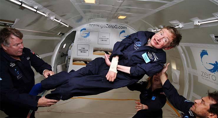 Stephen Hawking floats