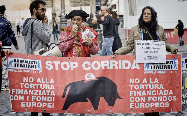 http://www.telegraph.co.uk/news/worldnews/europe/spain/11961010/EU-cuts-subsidies-that-support-Spanish-bullfighting.html