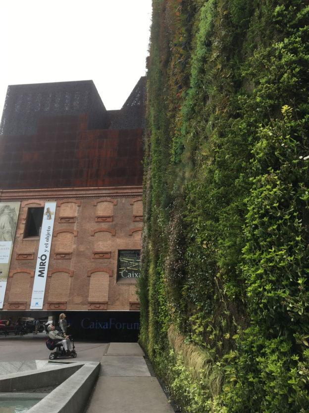 Both walls at the CaixaForum, a bank, of course!