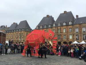 A splash of elephantine colour at the World Puppet Festival