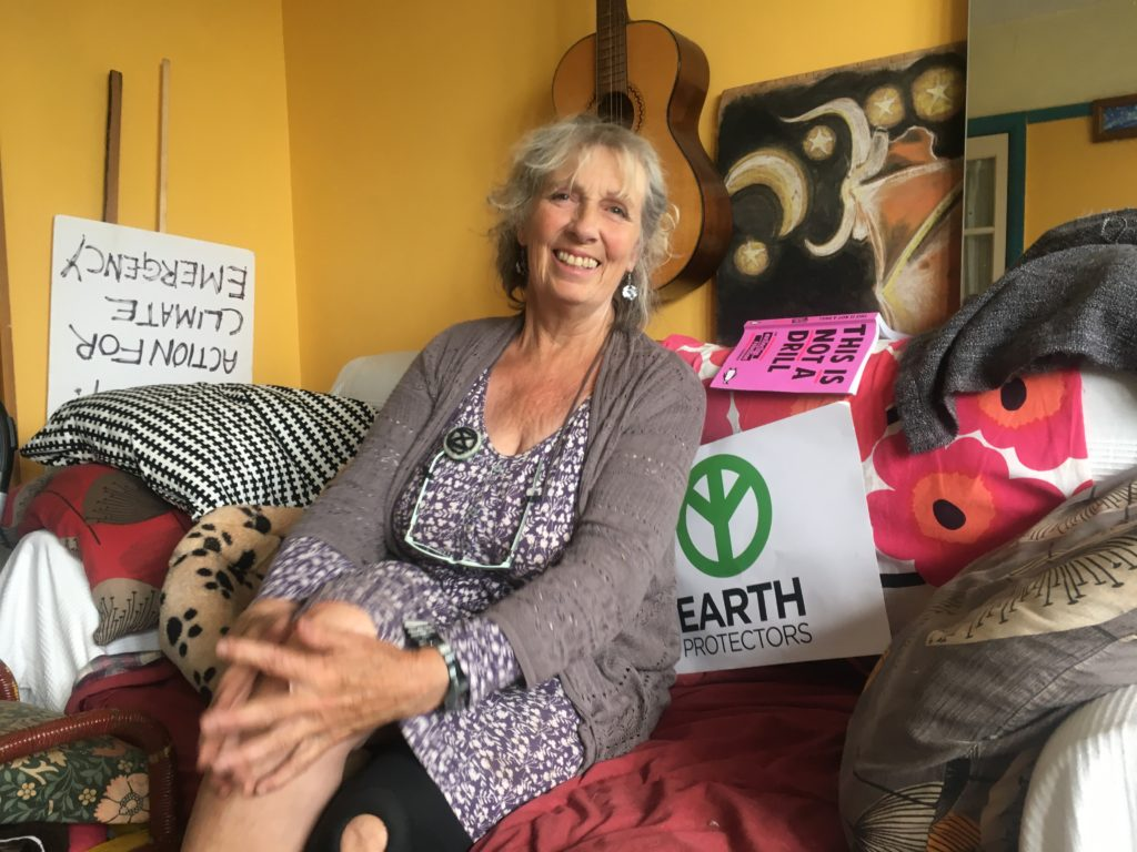 Marcea, my Airbnb host, a delightful climate activist
