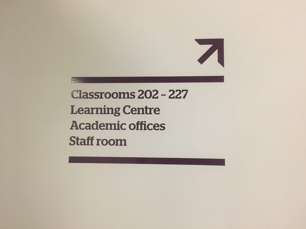 Signage in Kings Education