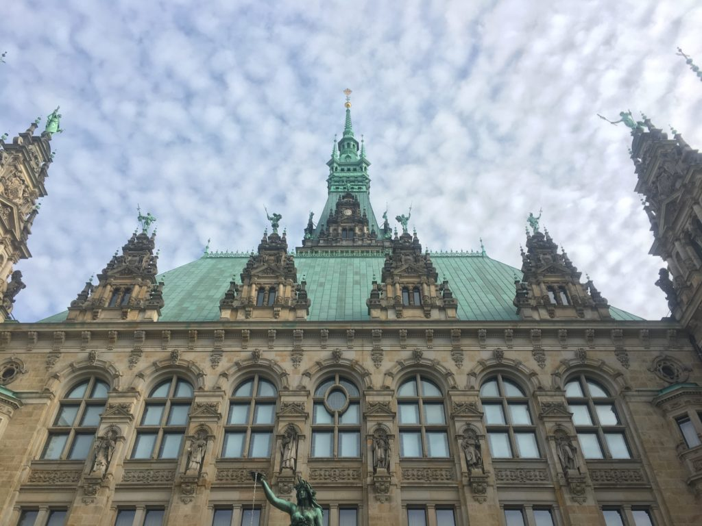 Rear of Rathaus Hamburg