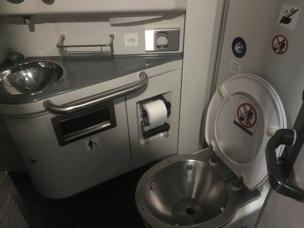 Russian train toilet - clean and orderly