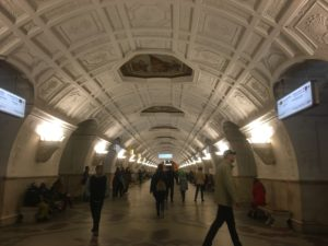 First look at Belorusskaya Metro station