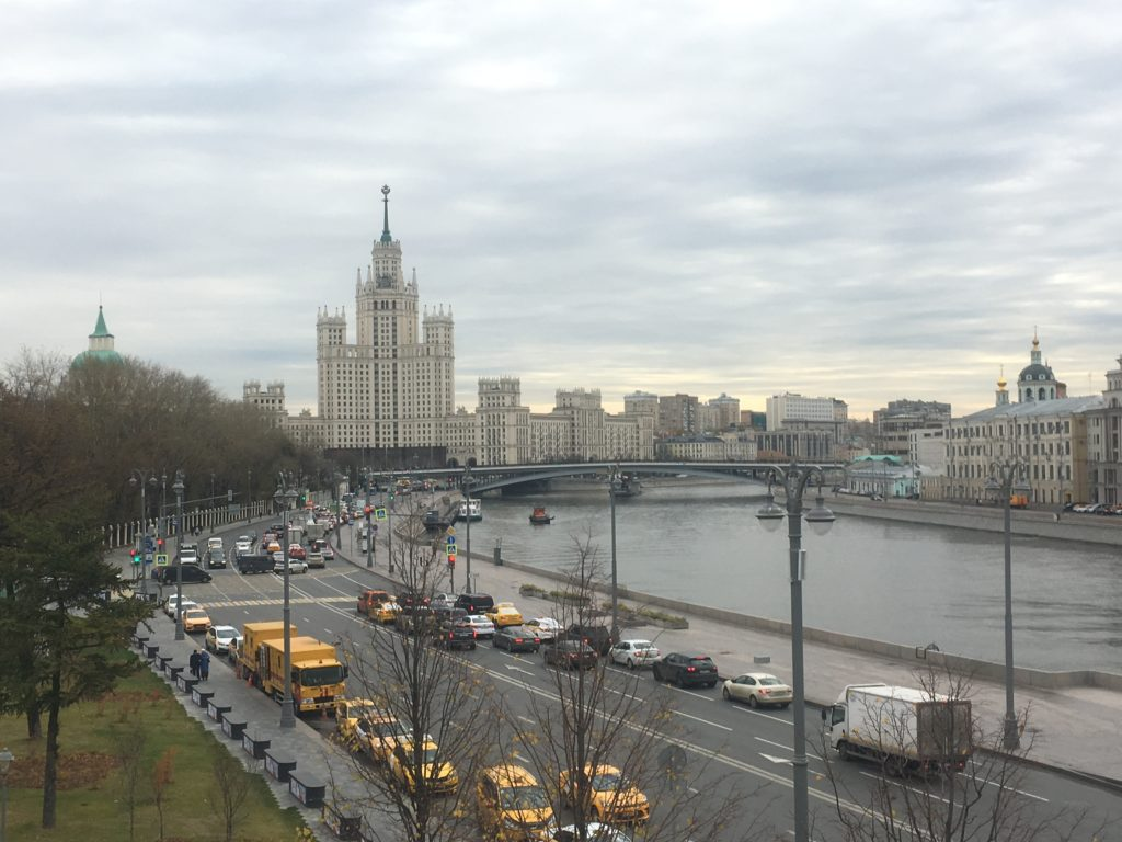 One of Stalin's Seven Sisters in Moscow