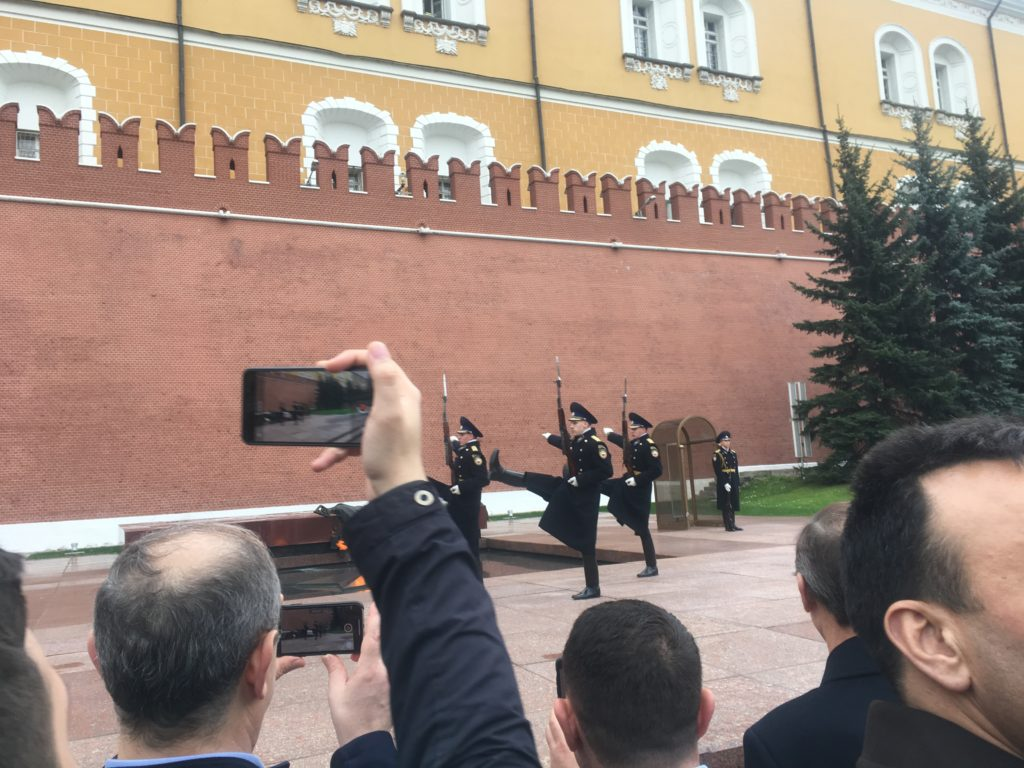 Tomb of the Unknown Soldier by Kremlin Wall - Aleksandrovskly Gardens