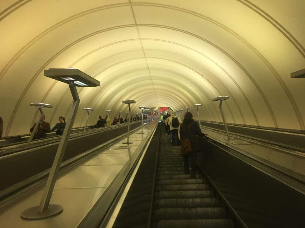 Each metro station is different but all I encountered are quiet and orderly