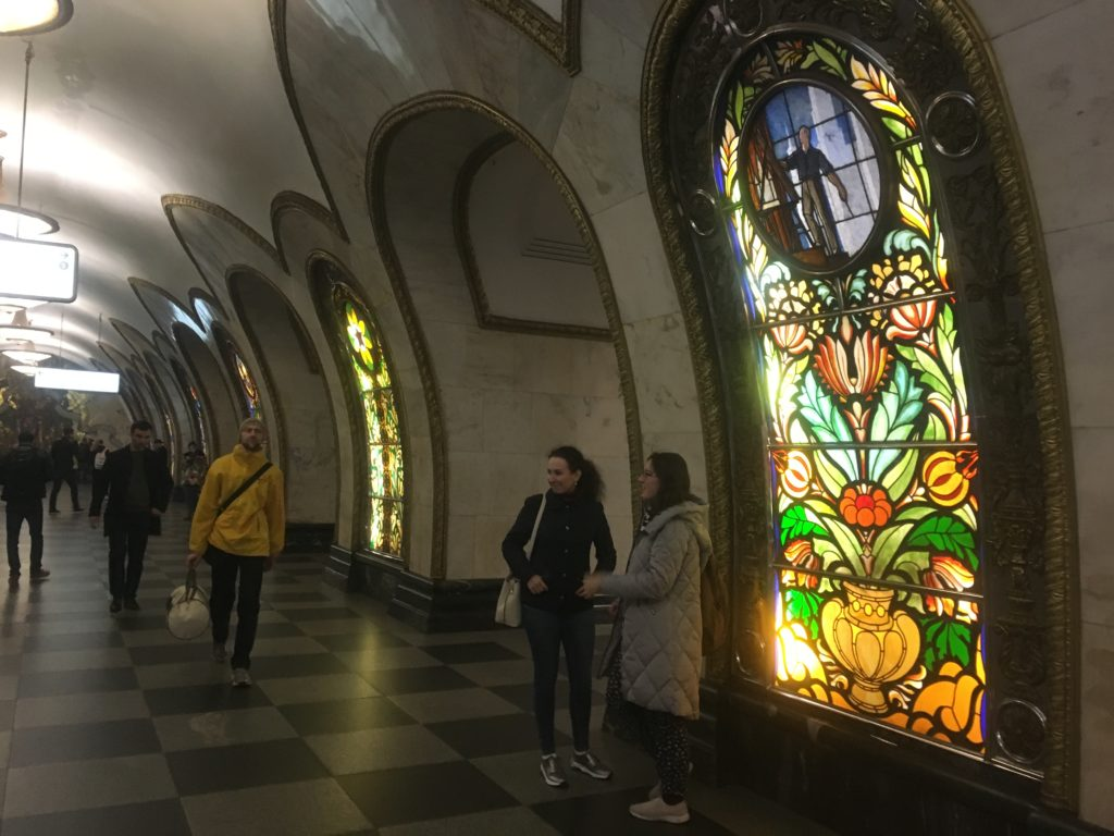 Novoslobodskaya Station is known as the Cathedral Station