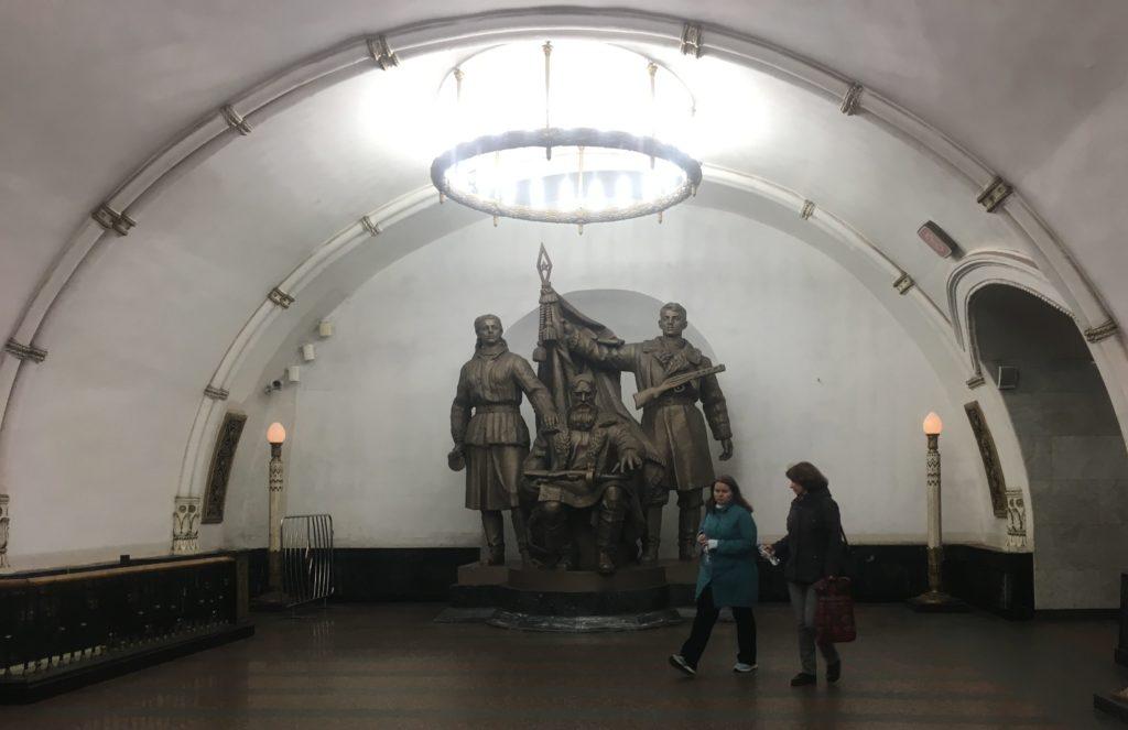 Monument at Revolution Square Station