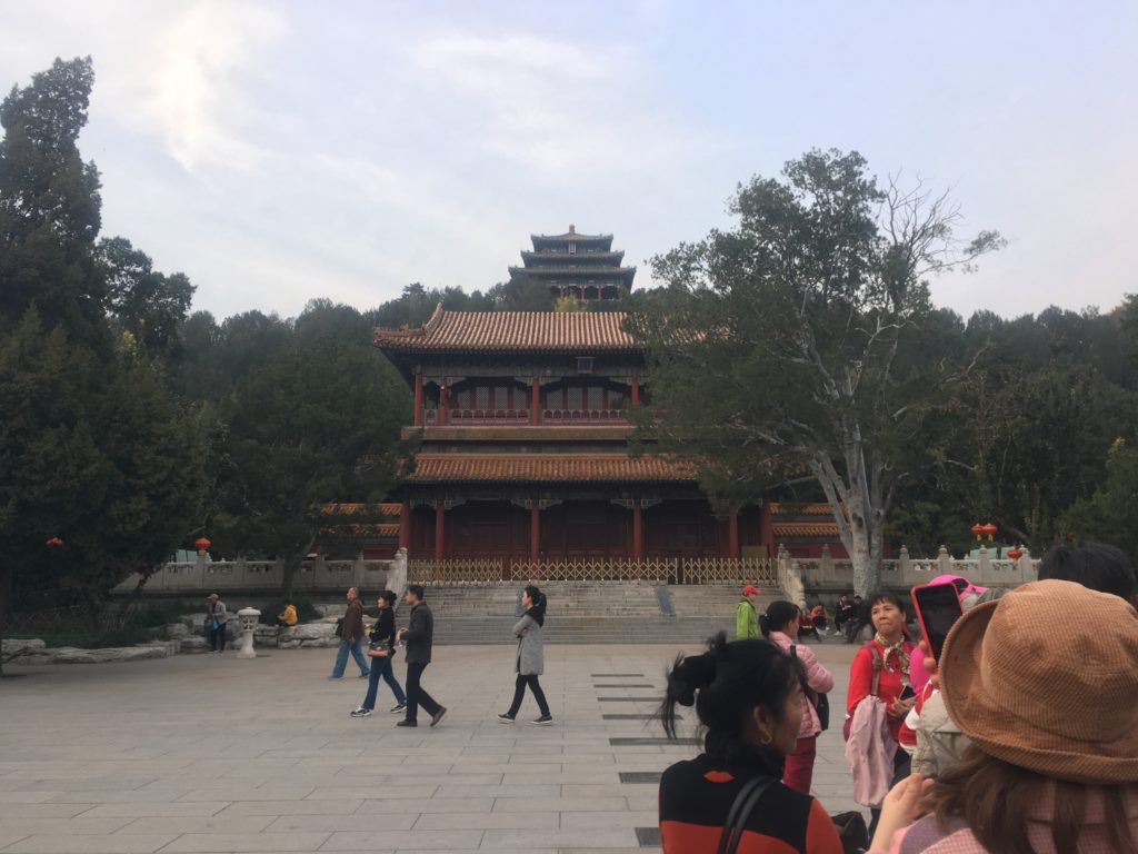 Heading up towards the Forbidden City (Palace Museum)