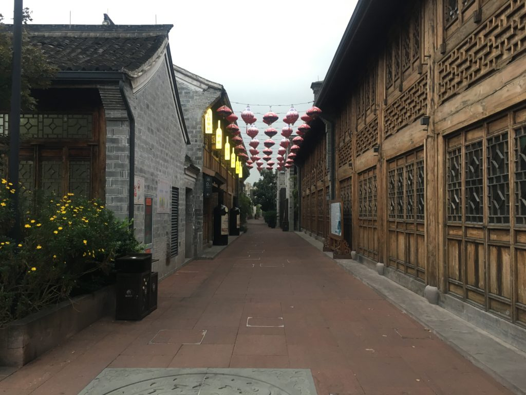 The new touristy hutong of Ningbo