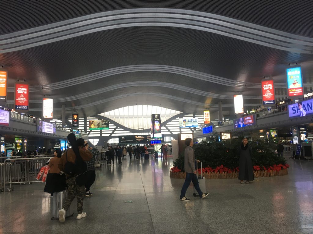 Ningbo railway station passenger waiting area