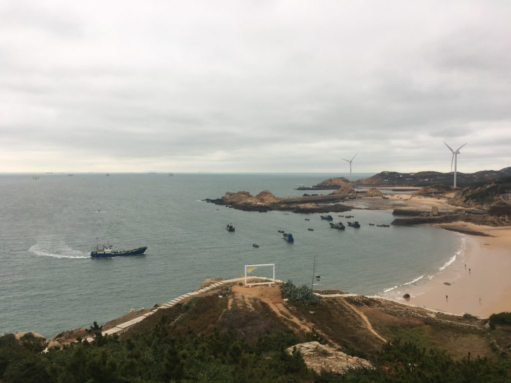 Beauty spot on coast of PIngtan Island