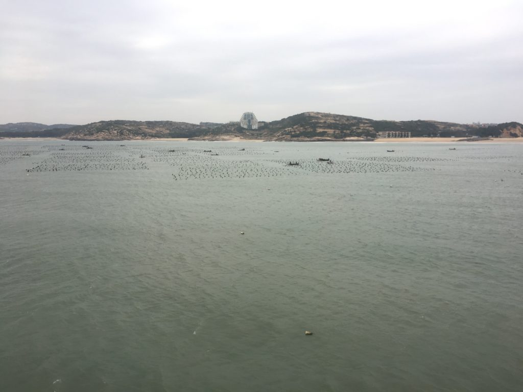 Out of Pingtan - possibly oyster farms?