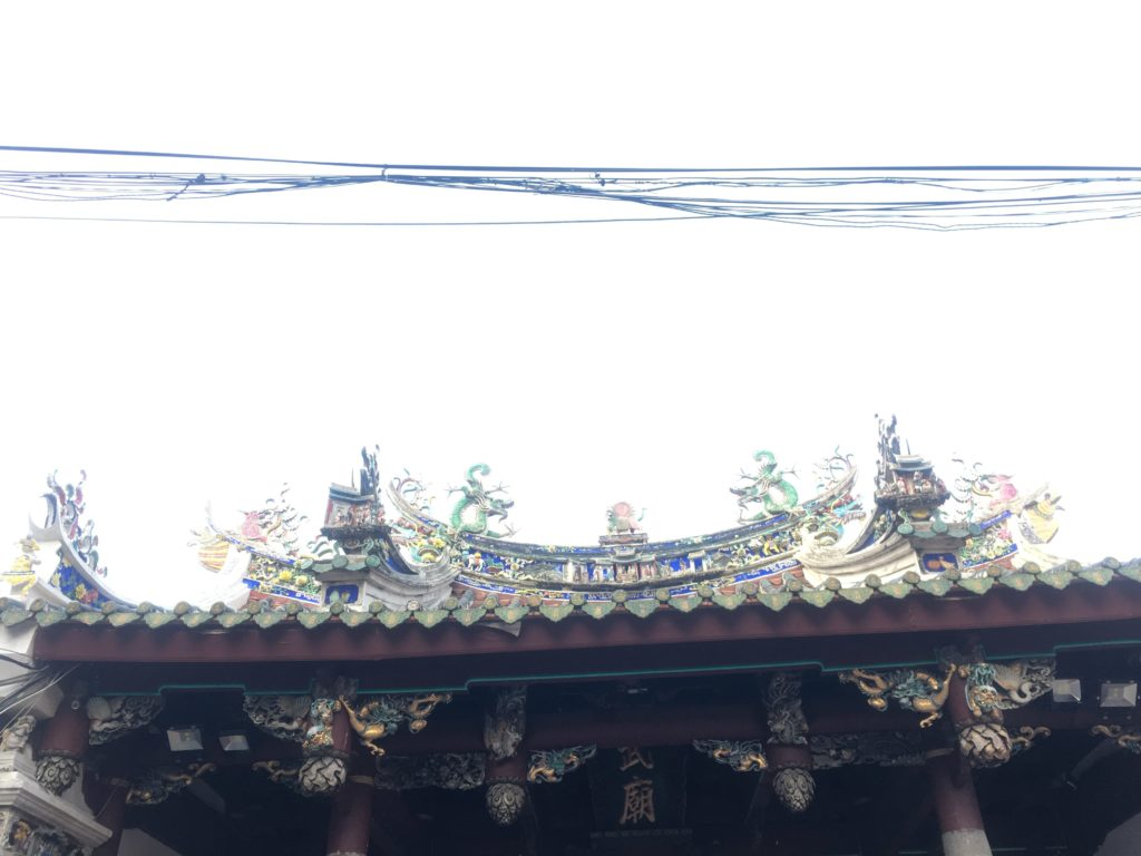 Dragons on the roof protecting the temple