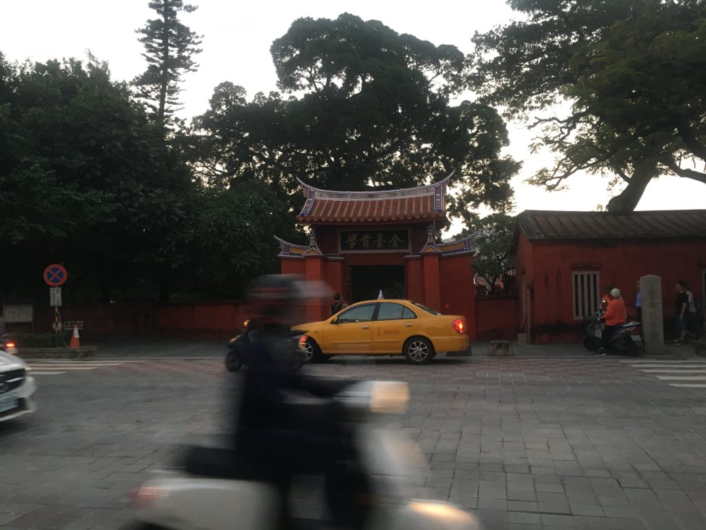 Japanese government road directly infront of Confucian Temple