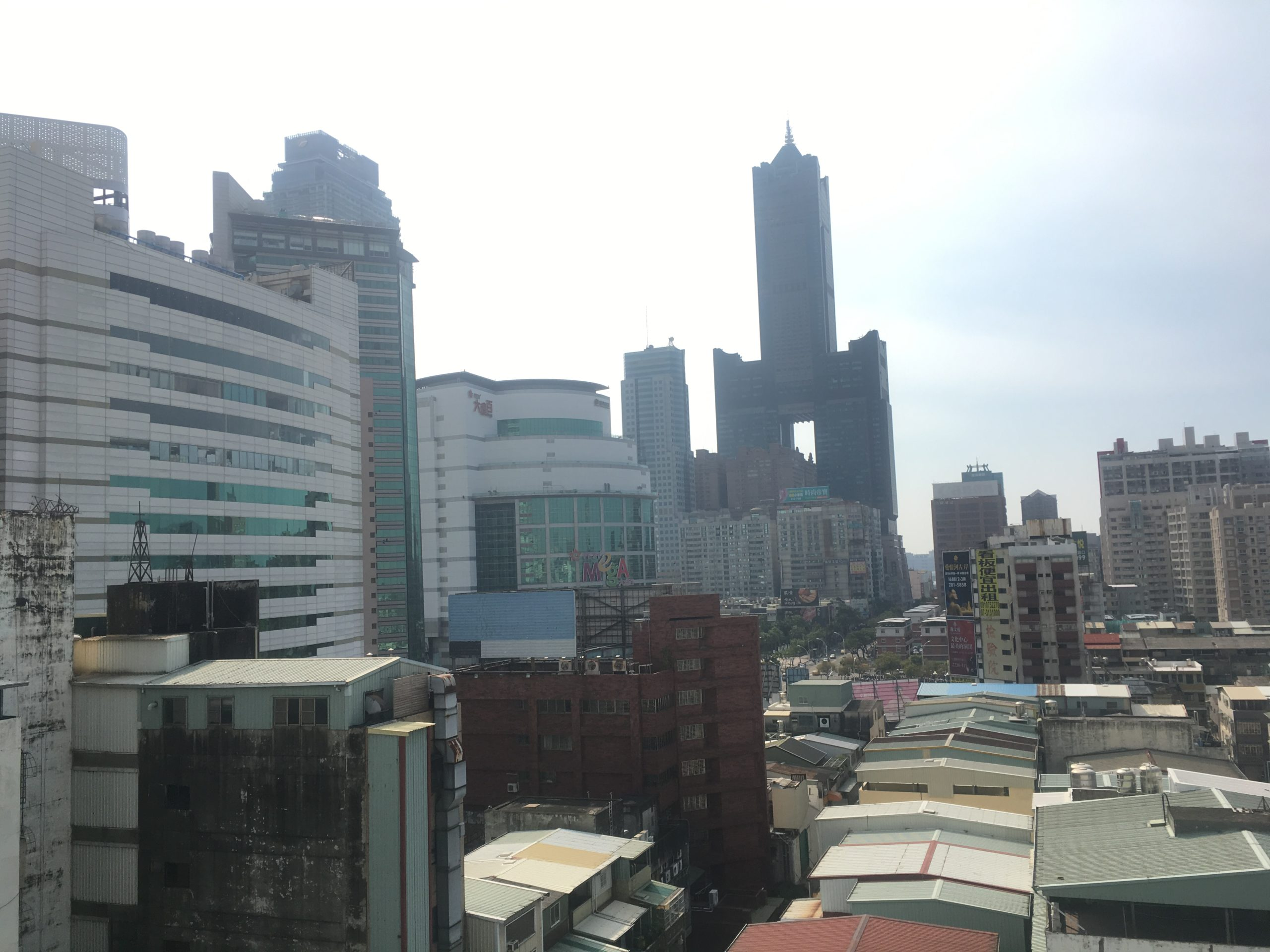 Day inner city Kaohsiung from balcony of R8Hotel