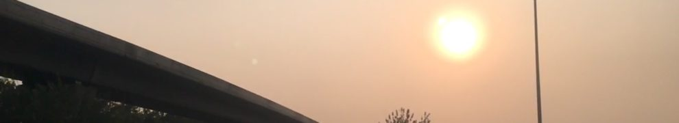 Sunset around 17:30 and a smoggy one at that