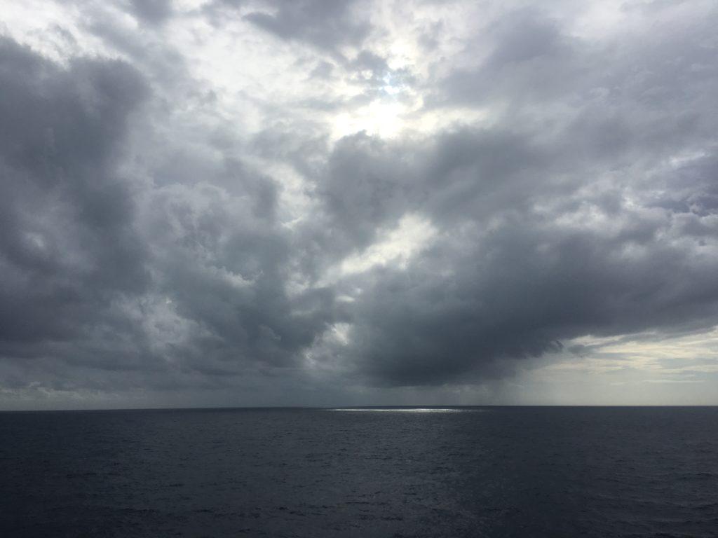 Philippine Sea dramatic clouds