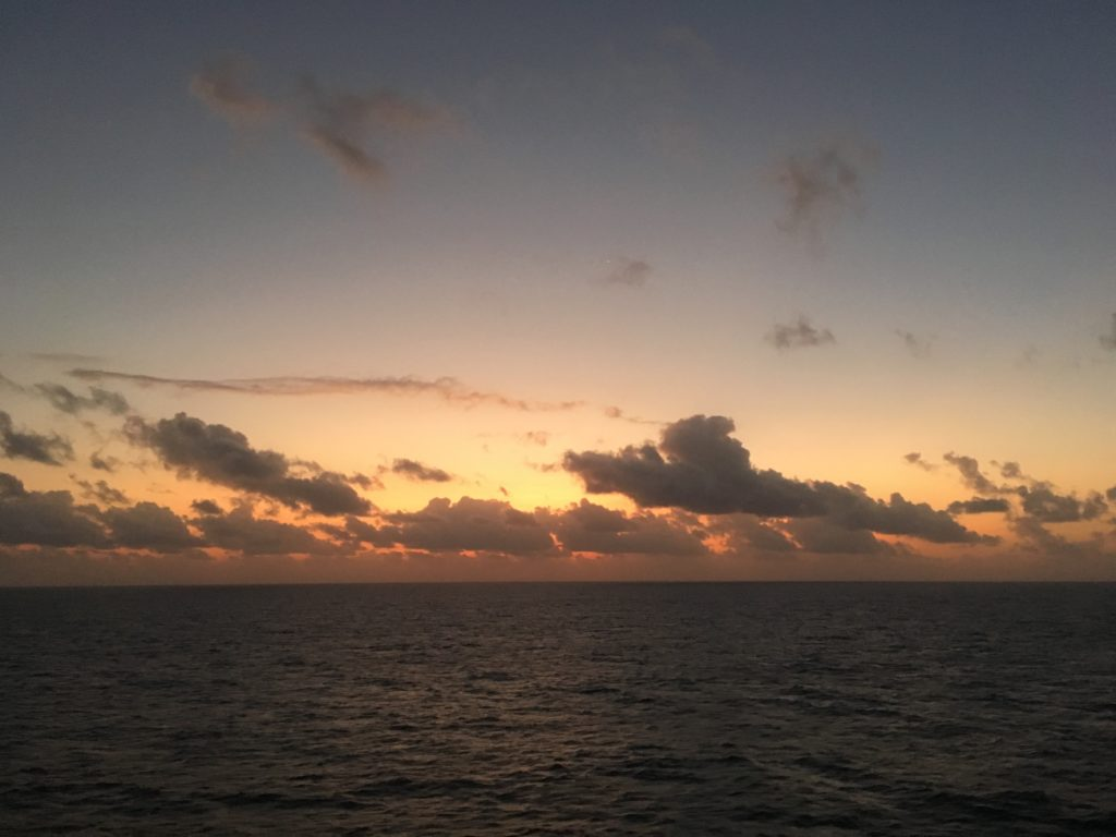 Sunset over Coral Sea
