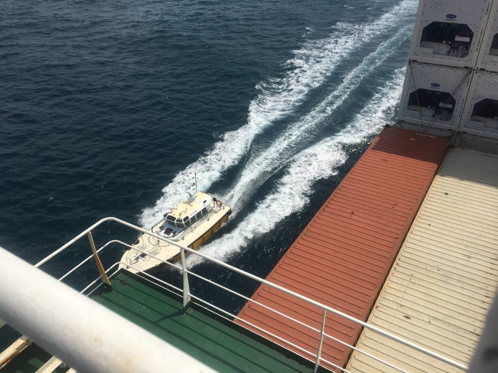 Brisbane Pilot arriving to CC Coral