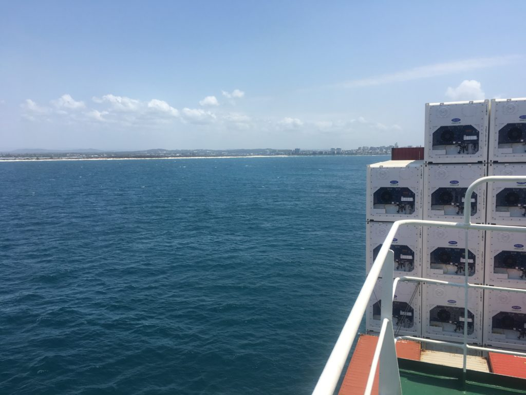 Australia from CC Coral wing deck