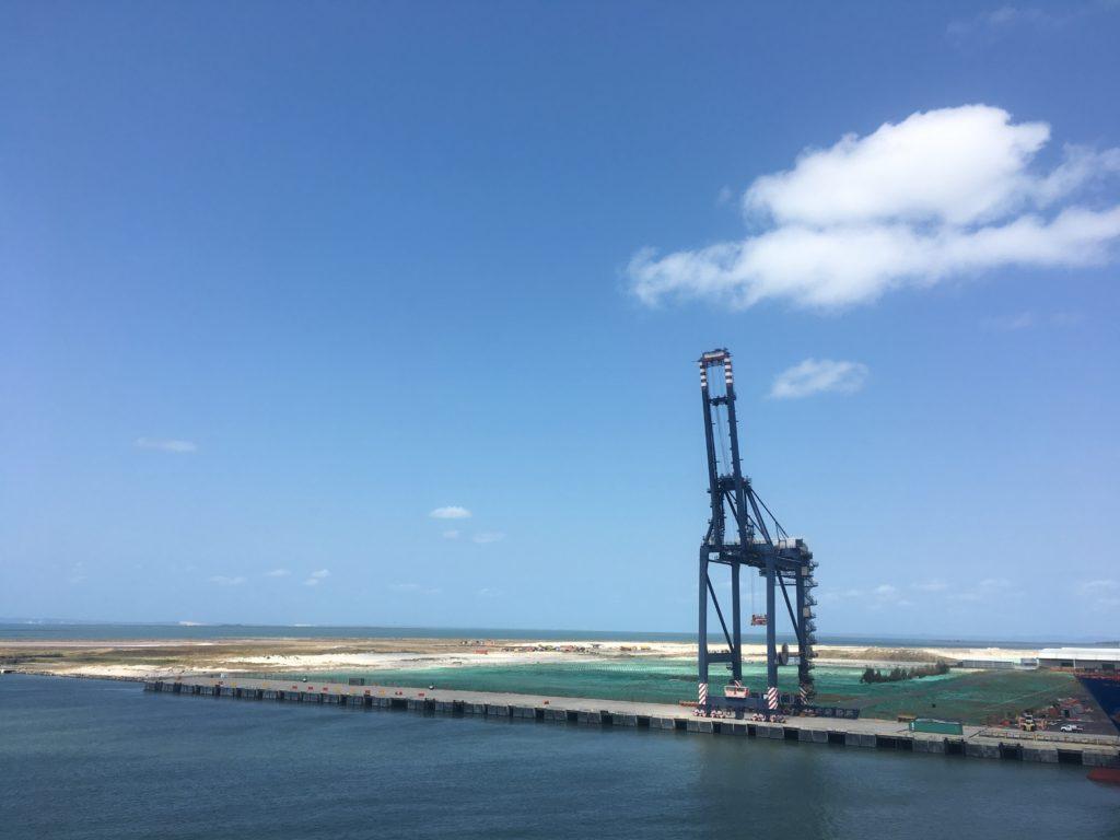 Land reclamation for Brisbane port extension