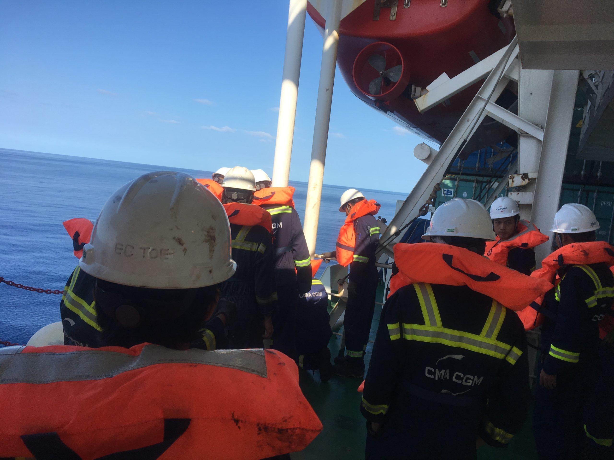 Abandon ship! CC Coral drill
