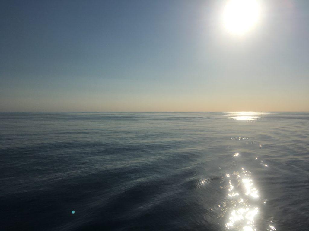Australian haze over the Tasman Sea