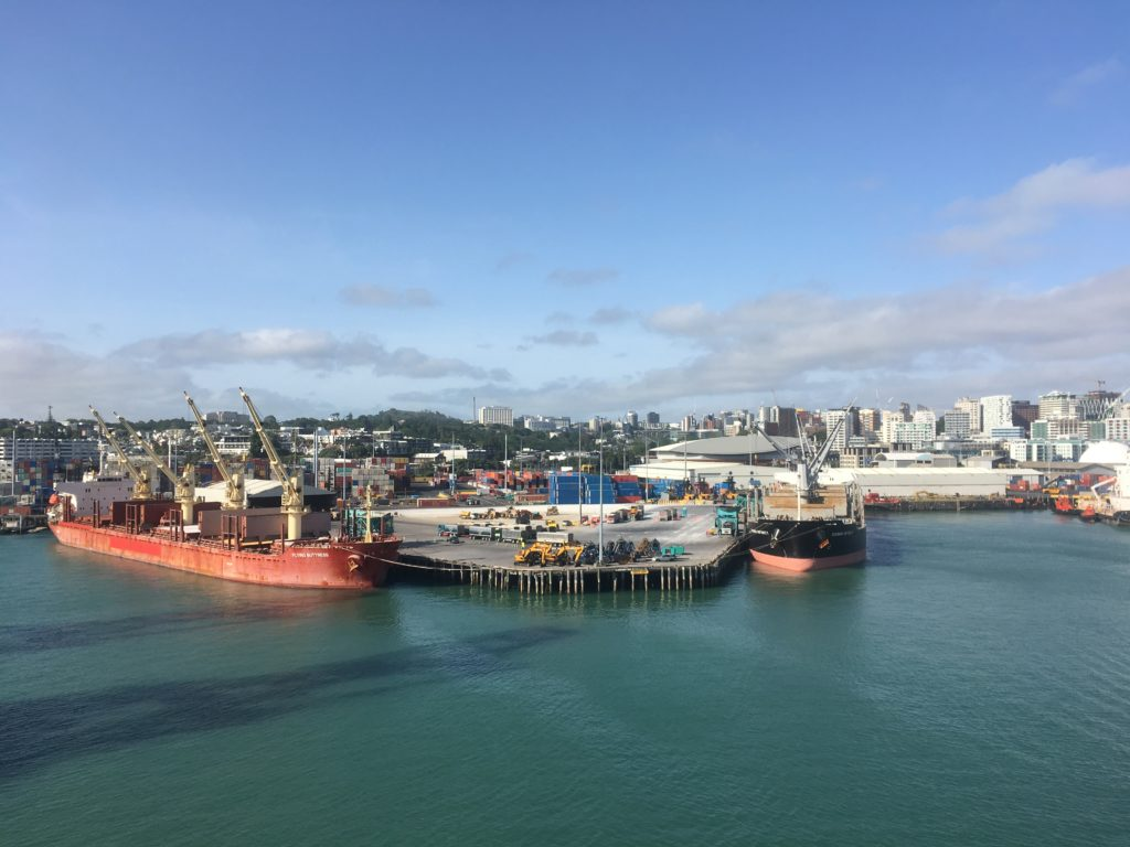 Auckland Ports were busy with three passenger liners ships as well as cargo