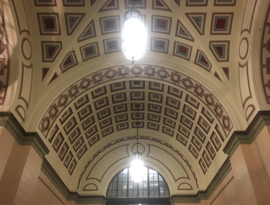 Wellington Train Station ceiling detail