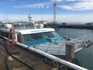 Stewart Island ferry at Bluff Wharf