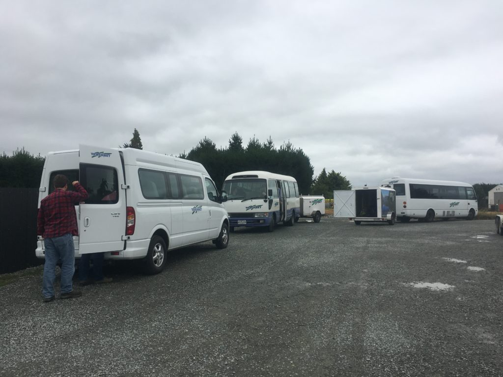Bus exchange between Invercargill and Queenstown - we swapped