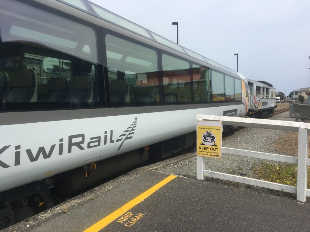 On the TranzAlpine from Picton station