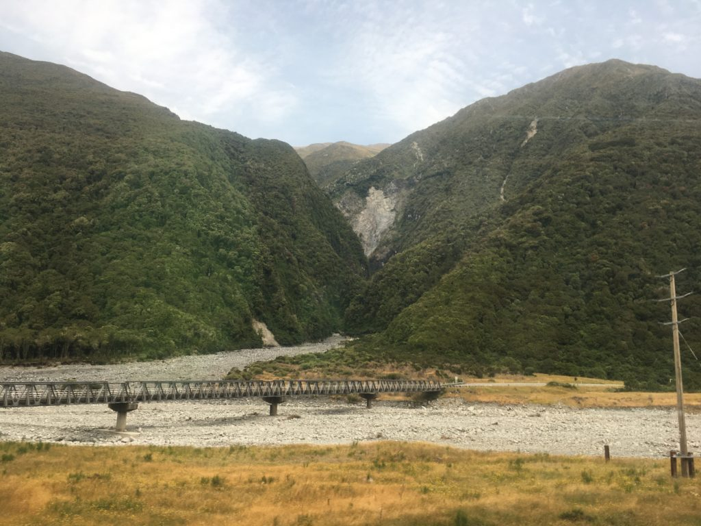 Not exactly snow capped mountains on the TranzAlpine