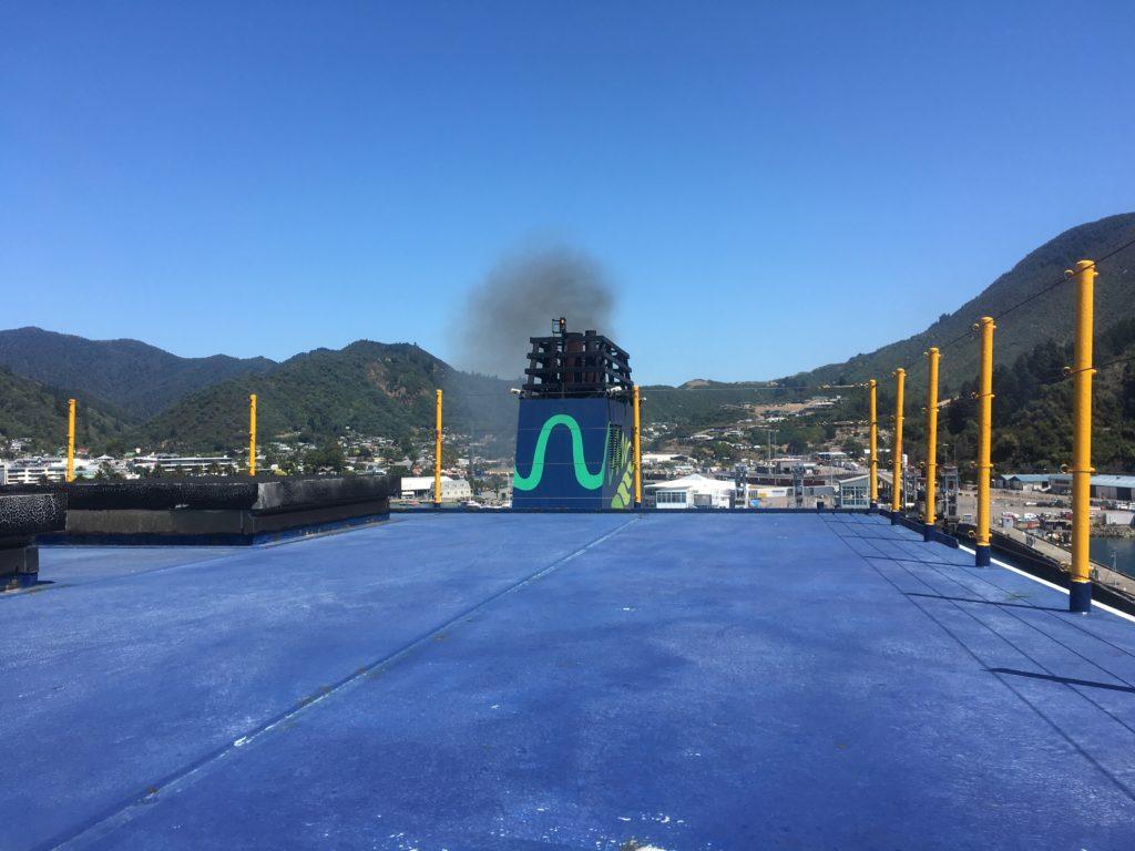InterIslander ferry chimney stack