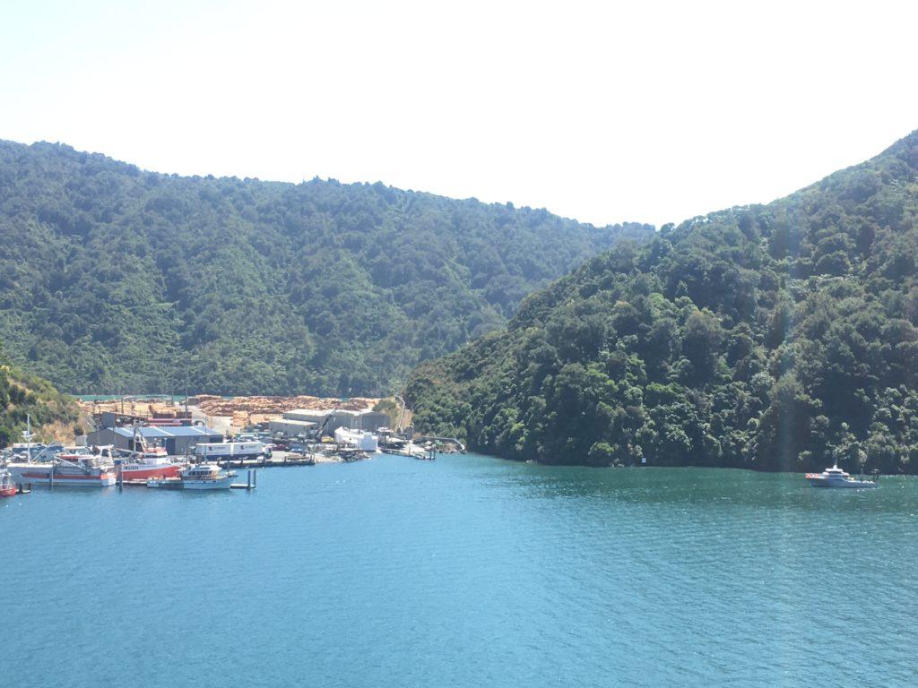 Leaving the South Island by InterIslander ferry