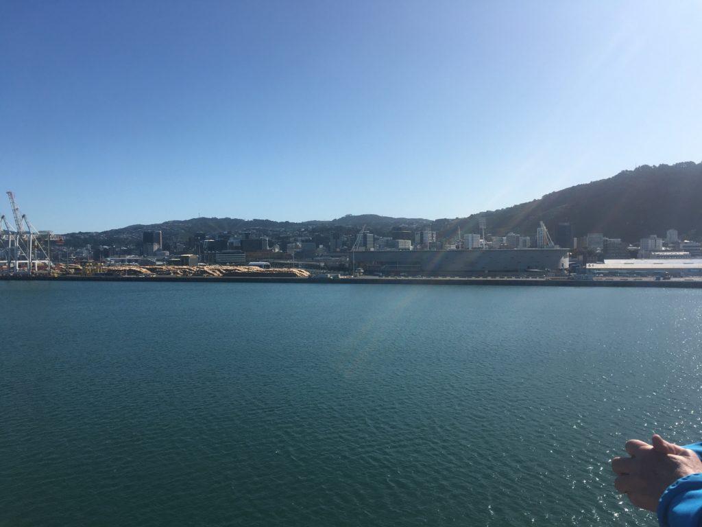 Between Islands on the InterIslander ferry
