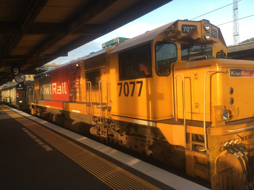 Kiwi Rail waiting at Welly Station